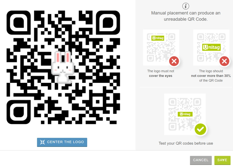 QRコードの中心にロゴを入れる方法